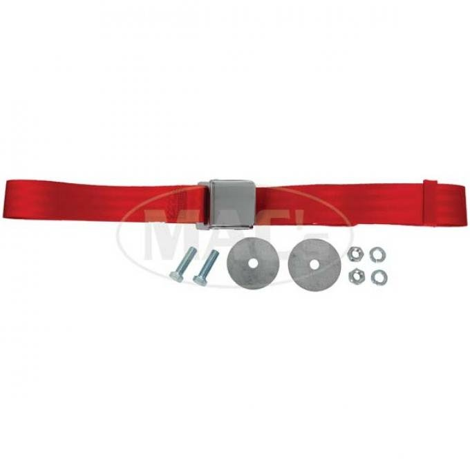 "SeatBelt Solutions Early Ford | Mercury Retractable Lap Belt,  74"" with Chrome Lift Latch HL1800H742006 