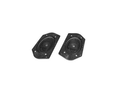 "Ken Harrison Door Speaker Assembly, w/ Dual 3.5"" Speakers, 69-73 Mustang, w/ Plug for Ford Wiring"