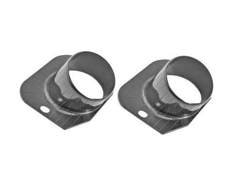 Ford Mustang Defroster Ducts - Black Molded Plastic - Includes Mounting Clips