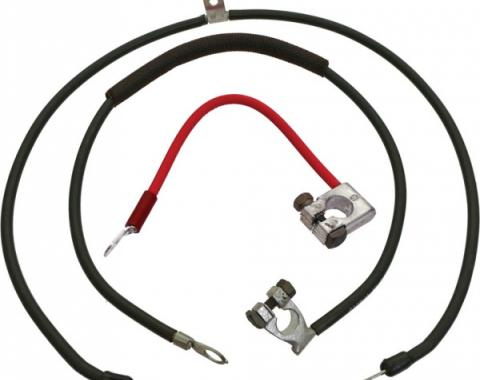 Ford Mustang Battery Cable Set - Reproduction - All 6 Cylinder & V-8 Engines Before 11-12-1969 - Light Duty