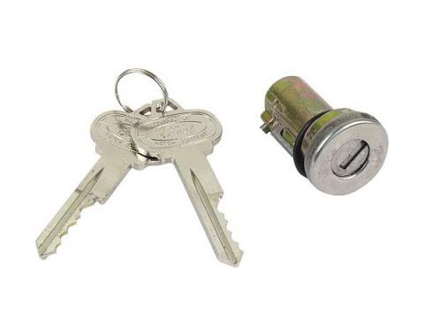 Ford Mustang Trunk Lock Cylinder - Includes 2 Special Pony Keys