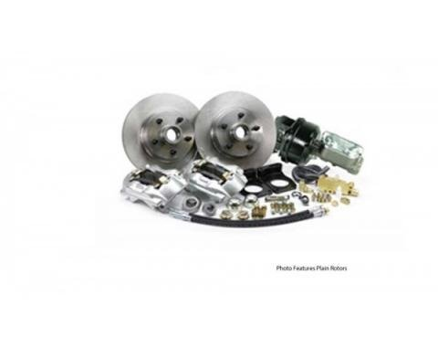 Ford Mustang - Legend Series Front Disc Brake Conversion Kit, Drilled And Slotted Rotors, Power, V8, 1964.5-1966