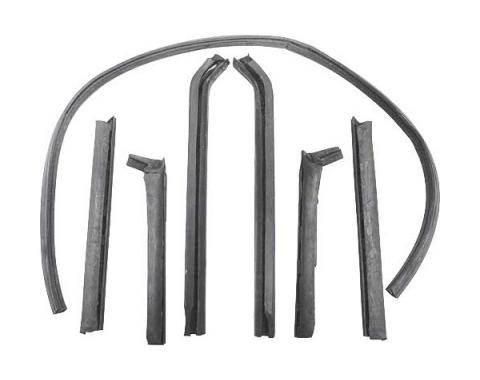 Ford Mustang Convertible Roof Rail Seal Set - 7 Pieces