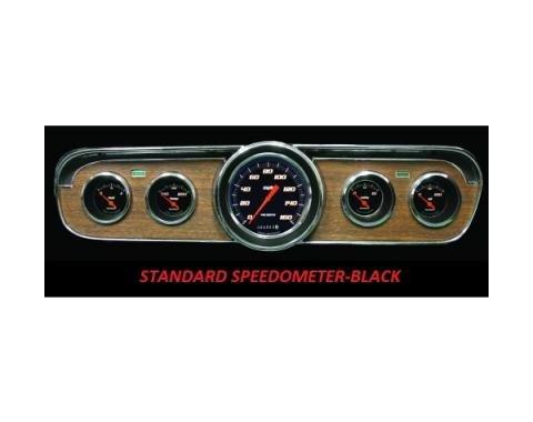 Mustang Classic Instruments® 5-Gauge Set, Velocity Series, 1964-1966