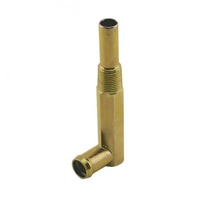 Heater Hose Elbow - Gold Zinc - 390 and 428 V8