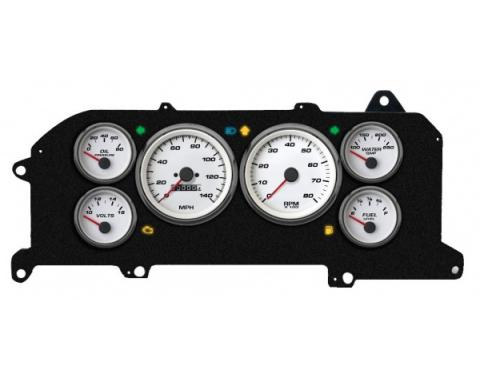 Mustang - New Vintage USA Performance Series Kit - 6 Gauge Package, White Dial - 1987-1993 - Programmmable Speedometer MPH