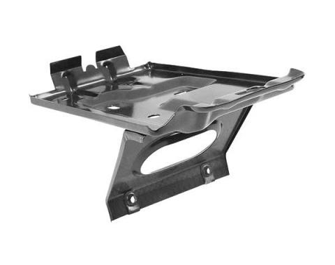 Ford Mustang Battery Tray - Painted Black - Bottom Clamp Type