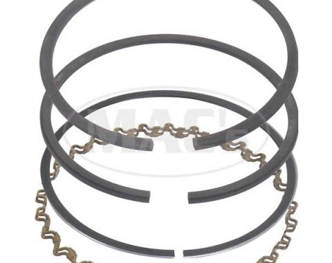 Piston Ring Set - Cast Iron - Comp Size .078, Oil Size .187- 144 & 170 6 Cylinder - Choose Your Size