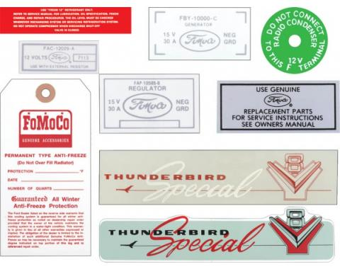 Decal Kit, Thunderbird Special, With AC