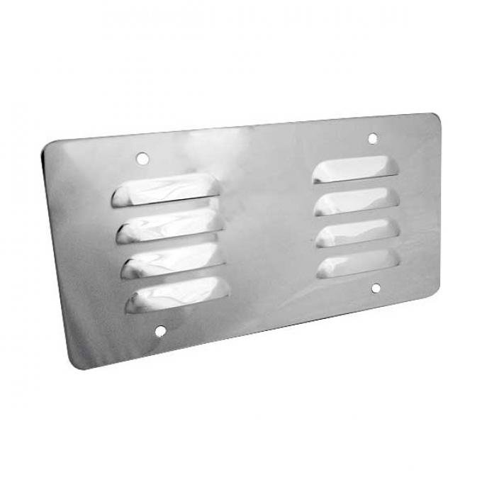 License Plate Backing Cover - Louvered - Stainless Steel