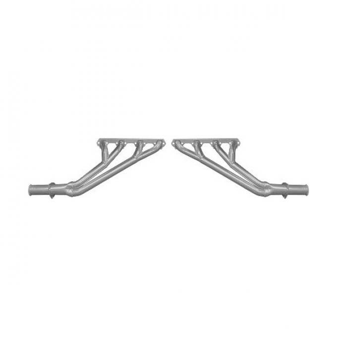 Ford Mustang Exhaust Headers - Coated - Tri-Y Design - 1-1/2 To 1-3/4 Pipes - Oval Ports - 2-1/2 Collectors - 260 Or 289 Or 302 V-8