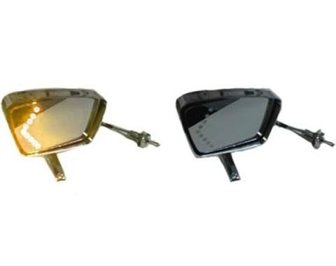 Mustang Amber LED Turn Signal Side Mirrors, Deluxe Style,  1967-1968