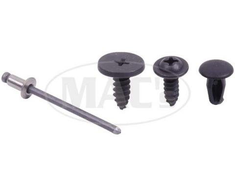Ford Mustang Roof Rail Seal Hardware Set - Fastback