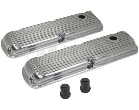 Cal Custom Valve Covers - Pressure Die-Cast - Finned Aluminum