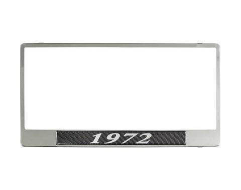 License Plate Frame - 1972