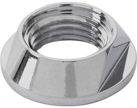 Floorshift Knob Retaining Nut - For All 4 Speeds - Chrome -Ford