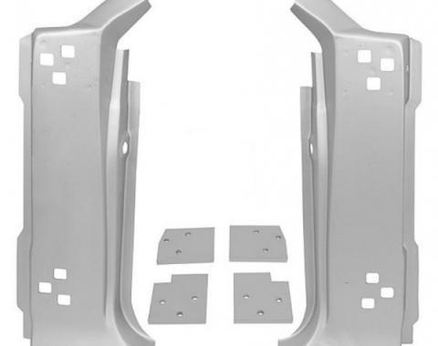 Mustang A-Pillar Panel Set With Door Hinge Mounting Plates,1967-1968