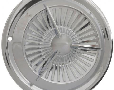 Wheel Cover Set, Early Polara/Tri-Bar Style, Chrome, For 15'' Steel Wheels