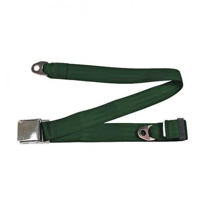 "Seatbelt Solutions Universal Lap Belt, 74"" with Chrome Lift Latch 1800745006   Dark Green"