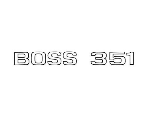Ford Mustang Boss 351 Deck Lid Decal - Black