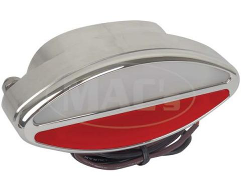 Billet Aluminum Oval Interior Light With White/Red Lens