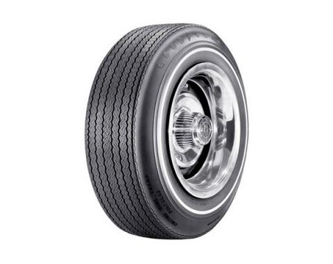 Tire - F70 x 14 - .350 Whitewall - Goodyear Custom Wide Tread