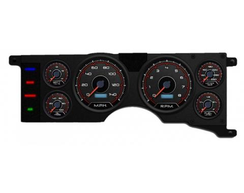 Mustang - New Vintage USA CFR Redline Series Kit - 6 Gauge Package, 1979-1986 -  Programmable Speedometer MPH