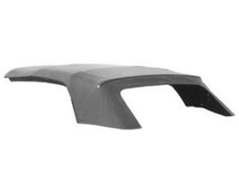 Ford Mustang Convertible Top Kit - White #CV22 On Black - With Original-Type Clear Vinyl Rear Window