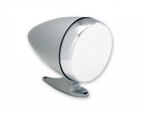 Ford Mustang - Bullet Mirror, Rotunda Style, Flat, Left, Chrome, 1965-1967