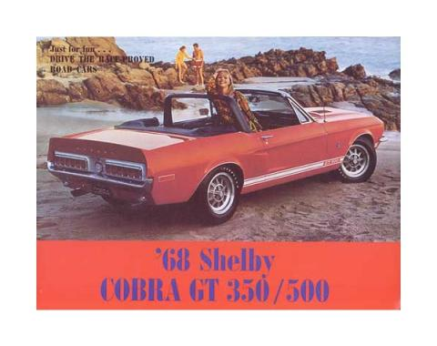 Ford Mustang Shelby Color Sales Brochure - 6 Pages - 11 Illustrations