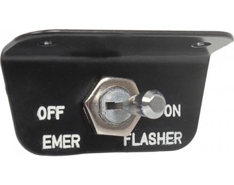 Daniel Carpenter Emergency Flasher Switch - Before 3-1-66 - Ford C6AZ-13350