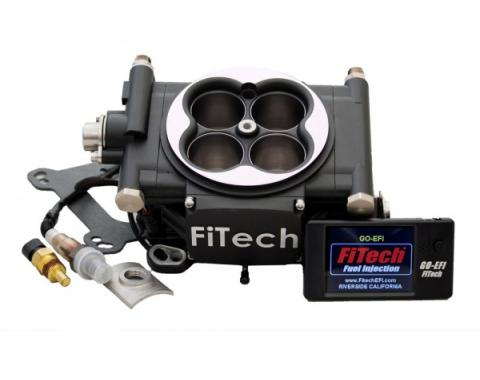FiTech Fuel Injection 600 HP Power Adder Kit, Matte Black Finish