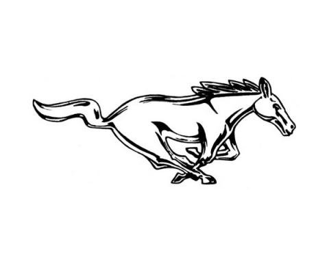 Ford Mustang Decal - Running Horse - Silver - 12 High - Right