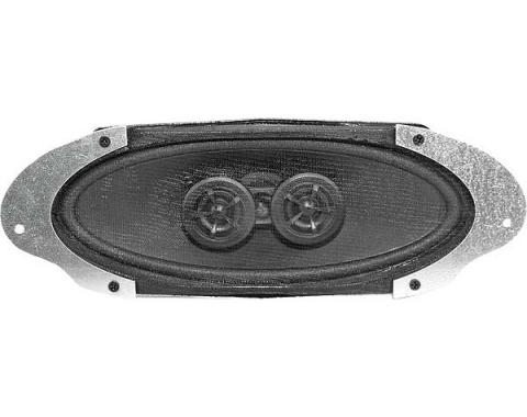 Ford Mustang Dual Voice Coil Radio Speaker Assembly - For Cars Without Air Conditioning - 140 Watts