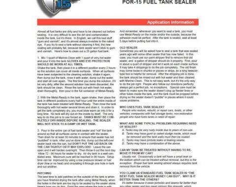POR-15® Fuel Tank Sealer - 1 Gallon