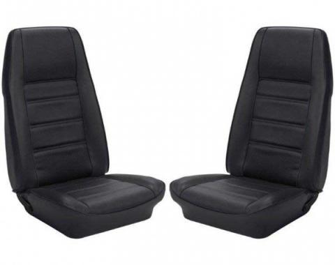 Ford Mustang, Cpe Full Set w/Bkt Seats, Uph, Dk Blu 72-73