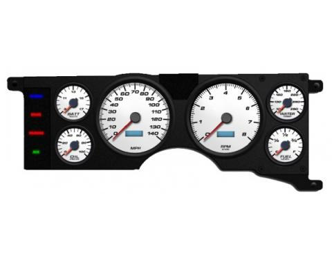 Mustang - New Vintage USA Performance ll Series Kit - 6 Gauge Package, White Dial - 1979-1986 - Programmmable Speedometer MPH