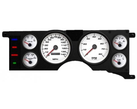 Mustang - New Vintage USA Performance Series Kit - 6 Gauge Package, White Dial - 1979-1986 -  Programmable Speedometer MPH