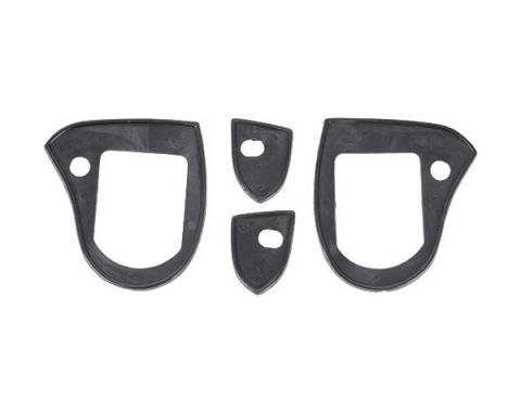 Ford Mustang Outside Door Handle Pad Set - 4 Pieces - Right& Left