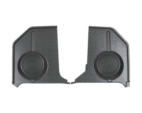 Custom Autosound Ford Mustang Kick Panels with 80 Watt Speakers, Convertible, 1964-1966
