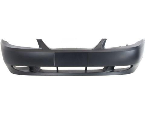 Mustang Front Bumper Cover Matte-Black W/O Hole 1999-00