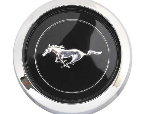 Ford Mustang Wheel Center Cap - Black Center - 2-3/4 Diameter X 1 Deep - Fits Magnum 500 Wheel After 4-2-1971