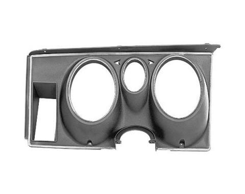 Ford Mustang Instrument Bezel - Black Plastic Camera Case Finish And Chrome - Except Mach 1