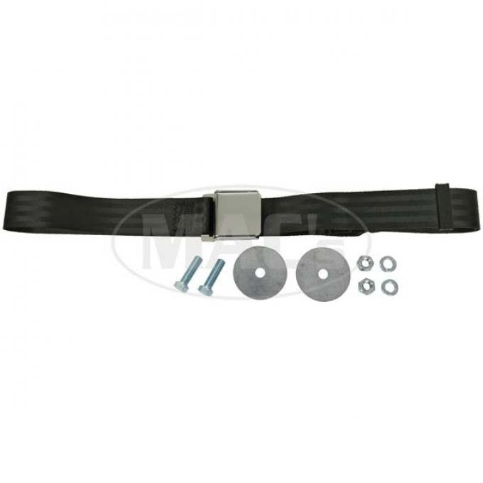 "SeatBelt Solutions Early Ford | Mercury Retractable Lap Belt,  74"" with Chrome Lift Latch HL1800H741000 