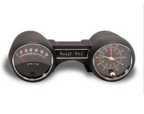 Ford Mustang Rally-Pac - With 6000 RPM Tach - With Rally Pac Logo In The Center & Mustang On The Tach Face - For V8 Engines Except GT