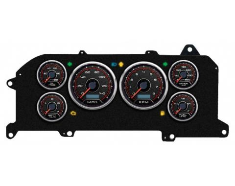 Mustang - New Vintage USA CFR Redline Series Kit - 6 Gauge Package, 1987-1993 -  Programmable Speedometer MPH