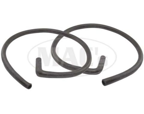 Ford Mustang Heater Hose Set - Exact Reproduction - 2 Pieces - Red Stripe - For Cars With Air Conditioning - From 2-1-1968