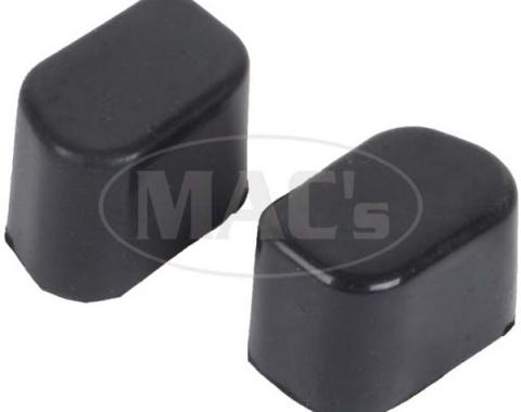 Ford Mustang Fastback Rear Seat Latch Bumpers - Rubber