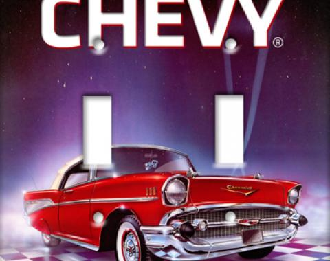 57 Chevy Switchplate, Double