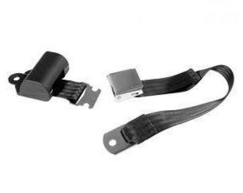 Scott Drake 1964-1973 Ford Mustang Aftermarket Seat Belts (Black, Retractable) SB-BK-65